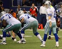 Cowboys Tony Romo wartet Verschluss Lizenzfreie Stockfotos
