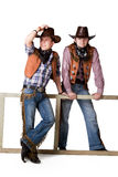 cowboys två Royaltyfri Foto
