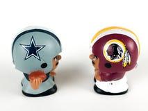 Cowboys v. Redskins Li`l Teammates Toy Figures. On a white backdrop stock photo