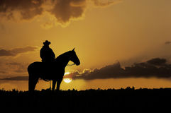 Cowboyschattenbild Lizenzfreie Stockfotos