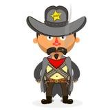 Cowboysheriffpistol Royaltyfria Bilder