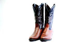 Cowboystiefel mit Rindlederoberleder Lizenzfreies Stockbild