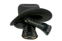 Cowboystiefel u. Hut Lizenzfreie Stockbilder