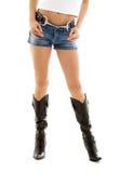 Cowboystiefel- und Denimkurzschlüsse #2 Lizenzfreie Stockfotos