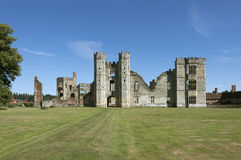 Cowdray Castle Ruins, West Sussex, England Stock Photos