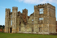 Cowdray Ruins, West Sussex. The ruins of the great Tudor house of Cowdray in Midhurst, West Sussex. The structure was built in the mid 16th century and was Stock Photography