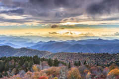 Cowee übersehen blauen Ridge Parkway Western North Carolina Lizenzfreies Stockfoto