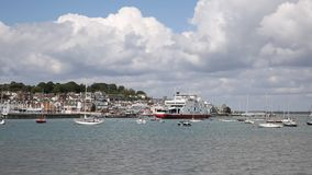 Cowes harbour Isle of Wight ferry leaving port Royalty Free Stock Image