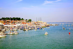 Cowes, ilha do Wight. Foto de Stock Royalty Free