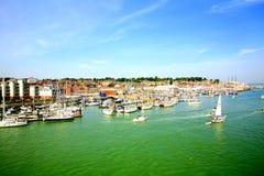 Cowes, ilha do Wight. Imagens de Stock Royalty Free