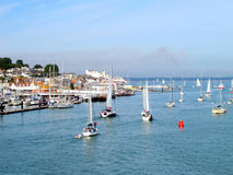 Cowes, ilha do Wight. Fotografia de Stock