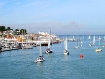 Cowes, Insel von Wight. Stockfotografie