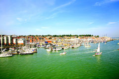 Cowes, Isle of Wight. The centre of yacht racing at Cowes, Isle of Wight, England, UK Royalty Free Stock Images