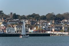 Cowes, Isle of Wight, England, UK. The town overlooking the River Medina. royalty free stock photography