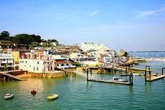 Cowes, Isle of Wight. The Quayside and Sailing club at Cowes, Isle of Wight, England, UK Stock Photos