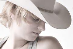 cowgirl μαλλιαρό κόκκινο πορτρέτ στοκ φωτογραφία