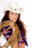 cowgirl πορτρέτο στοκ φωτογραφίες
