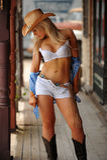 cowgirl προκλητικός Στοκ εικόνες με δικαίωμα ελεύθερης χρήσης