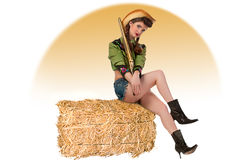 cowgirl συσκευασία pinup Στοκ Φωτογραφία