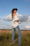 Cowgirl Immagini Stock Libere da Diritti