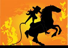Cowgirl stock abbildung