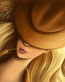 Cowgirl Imágenes de archivo libres de regalías