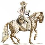 Cowgirl royalty ilustracja