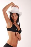 Cowgirl Stockfoto