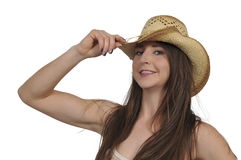 Cowgirl Stockbild
