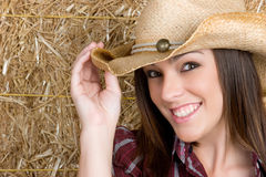 Cowgirl adolescente Fotografie Stock Libere da Diritti