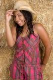 Cowgirl alegre Fotografia de Stock Royalty Free