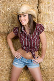Cowgirl allegro Immagine Stock