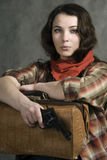 Cowgirl americano foto de archivo libre de regalías