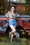 Cowgirl lizenzfreies stockfoto