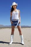 Cowgirl atractivo Imagen de archivo