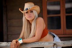 Cowgirl atractivo Foto de archivo