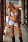 Cowgirl atractivo Imágenes de archivo libres de regalías