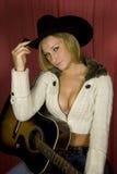 Cowgirl atractivo del encanto Imagenes de archivo