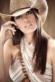 Cowgirl atractivo hermoso Imagenes de archivo