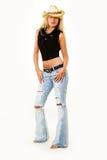Cowgirl attire stock photo
