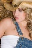 Cowgirl biondo fotografie stock libere da diritti