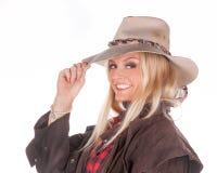 Cowgirl biondo sexy Immagini Stock