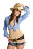 Cowgirl bonito Foto de archivo