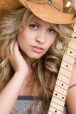 Cowgirl bonito imagem de stock