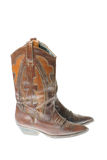 Cowgirl boots. Isolated on white background Stock Photography