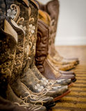 Cowgirl Boots. Lined up from a wedding I shot stock photos