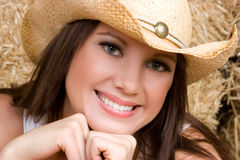 Cowgirl Closeup Stock Photo