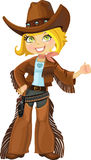 Cowgirl with colt Royalty Free Stock Images