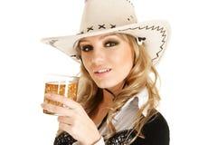 Cowgirl com uísque imagem de stock royalty free