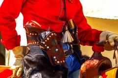 Cowgirl con i sixguns, Immagine Stock